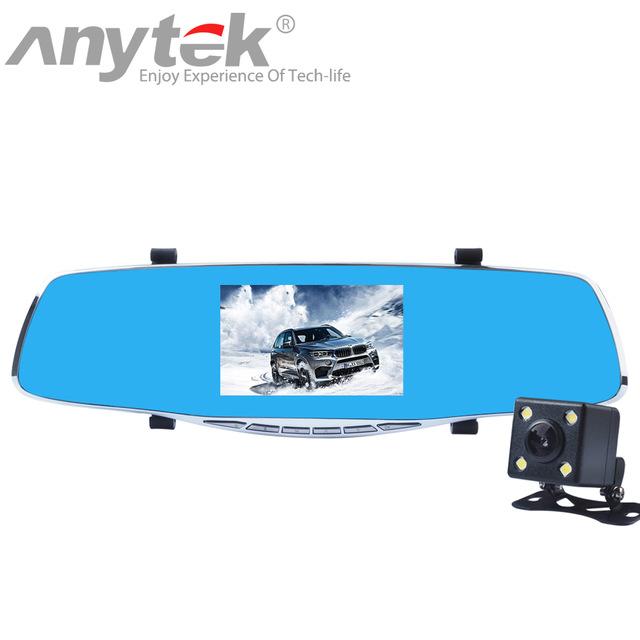 """กล้องติดรถยนต์ Anytek X3 กล้องหน้า-หลัง Full HD 1080P 4.3""""TFT Dual Lens Car Camera"""