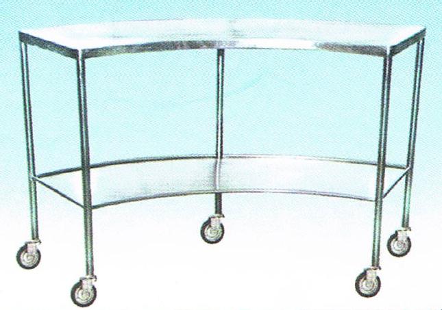 โต๊ะวางเครื่องมือแพทย์ แบบโค้ง MET25