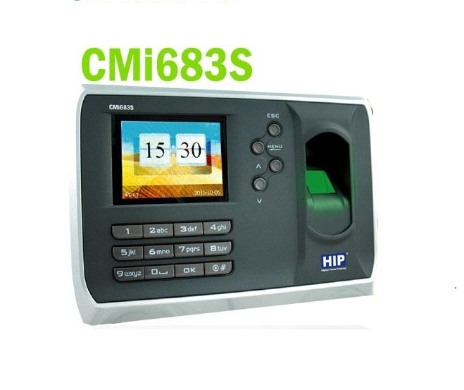 เครื่องแสกนลายนิ้วมือ HIP รุ่น CMI683S รองรับ 10,000 ลายนิ้วมือ (ลงเวลาทำงาน และ ควบคุมประตู)