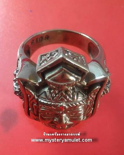 แหวนพ่อแก่ เนื้ออัลปาก้า ครูบากฤษณะ สำนักสงฆ์เวฬุวัณ จ.นครราชสีมา มีไซค์ เบอร์ 7-12 สำเนา