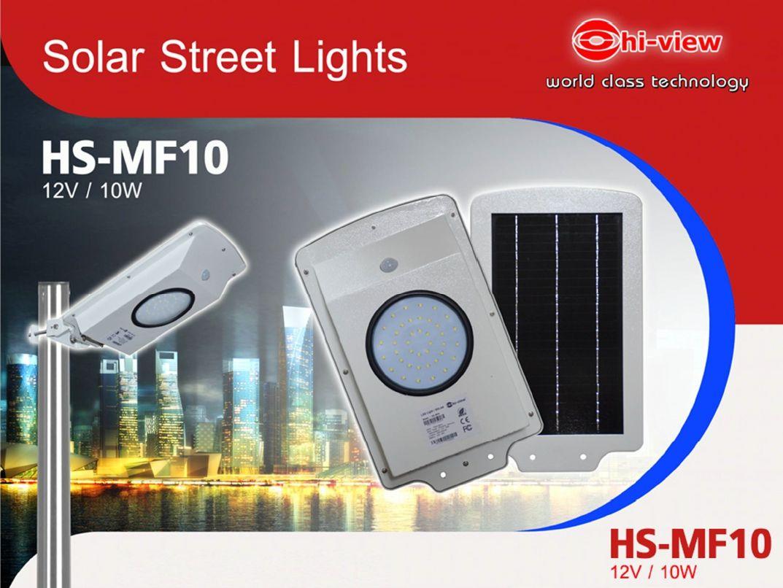 LED Street Light ไฟถนน LED 10W สีขาว รุ่น HS-MF10 สีขาว