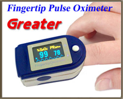 เครื่องวัดออกซิเจนปลายนิ้ว รุ่น Greater รหัส MEH06