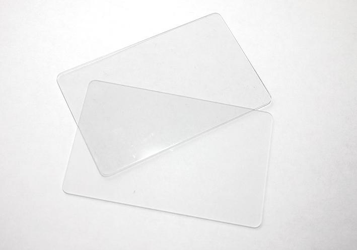 จำหน่ายบัตรพลาสติกโปร่งใส บัตรพรีปริ๊นท์ พิมพ์เองได้ ราคาถูก ใช้กับเครื่องพิมพ์บัตรพลาสติกระบบริบบอน ทุกยี่ห้อ