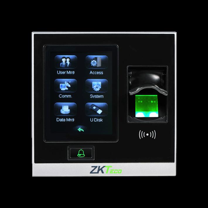 เครื่องแสกนลายนิ้วมือ บันทึกรายการได้ สามารถควบคุมประตูได้ ยี่ห้อ ZKTECO รุ่น ZK-SF400
