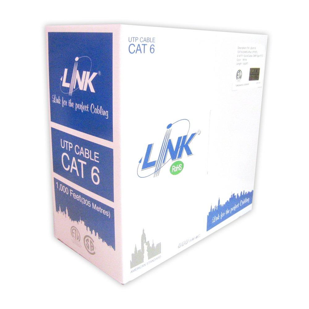 สายแลนด์ CAT6 LINK สีขาว 305m. สำหรับใช้ภายในอาคาร US-9116