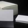 100 ใบ บัตรพรีปริ๊นท์ 0.7 บัตรพลาสติกเปล่าสีขาว พิมพ์บัตรได้ ใช้กับเครื่องพิมพ์บัตร ระบบริบบอน dye sub ทั่วไป หนาประมาณบัตร ATM