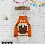 ผ้ากันเปื้อนผู้ใหญ่ หมาปั๊ก by Supergoods