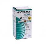 แผ่นตรวจน้ำตาล ACCU-CHEK Active แบบ 25 ชิ้น