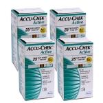 แผ่นตรวจน้ำตาล ACCU-CHEK Active แบบ 25 ชิ้น จำนวน 4 กล่อง