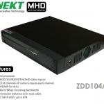 เครื่องบันทึก MHD 720P รองรับ 5 ระบบ HD TVI AHD CVI IP 4 CH Analog INNEKT รุ่น ZDD104