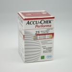 แผ่นตรวจน้ำตาล ACCU-CHEK Performa 25 ชิ้น ต่อกล่อง