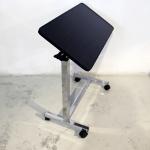 โต๊ะคร่อมเตียงลายไม้สีดำ งานไม้ลามิเนต ปรับแบบโช๊ค ปรับเอนได้ รหัส MEU05