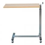 โต๊ะคร่อมเตียงลายไม้ งานโฟเมก้า ปรับแบบมือหมุน รหัส MEU02