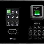 เครื่องแสกนหน้า, แสกนลายนิ้วมือ รองรับการใช้บัตร สำหรับลงเวลาทำงาน ยี่ห้อ ZKTECO รุ่น ZK-MB200