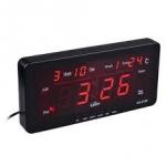นาฬิกาดิจิตอล ตั้งโต๊ะ ติดผนัง หรือใช้ในรถ รุ่น CX-2158 สีแดง