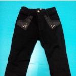 กางเกงเด็กสีดำ size 6 เอว 20 นิ้ว (ยังไม่ยืด) ยาว 21.5 นิ้ว ราคา 100 บาท ส่งฟรี