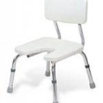 เก้าอี้อาบน้ำ แบบมีพนักพิง ปรับสูงต่ำได้ แบบเว้า MEH02