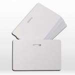 100 ใบ บัตรพลาสติกเปล่าสีขาว บัตรเจาะรูวงรี แบบบัตรพนักงาน ใบละ 11 บัตรพรีปริ๊นท์ 0.7 บัตรพลาสติกเปล่าสีขาว พิมพ์บัตรได้ ระบบริบบอน dye sub ทั่วไป