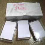 100 ใบ บัตรพรีปริ๊นท์ 0.5 mm. บัตรพลาสติกสีขาวพิมพ์บัตรได้ บัตรพีวีซีสีขาว หนาปานกลางไม่แข็งไปไม่อ่อนไป