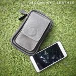 กระเป๋าใส่โทรศัพท์ ร้อยเข็มขัด หนังแท้ รุ่น Belta I สีดำ