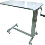 โต๊ะคร่อมเตียง แบบขอบสแตนเลส ปรับแบบมือหมุน รหัส MEU01