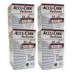 แผ่นตรวจน้ำตาล ACCU-CHEK Performa แบบ 25 ชิ้น ต่อกล่อง จำนวน 4 กล่อง