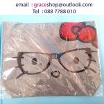 กระเป๋าหูหิ้วสะพายได้มีซิป 4 x 39.5 x 35.5 cm 180.- ส่งฟรี