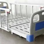 เตียงไฟฟ้า 3 ไกร์ ไฟฟ้า,แบตฯ ปรับต่ำพิเศษ 35 cm (superlow) เสาน้ำเกลือ ABS ลายไม้ รหัส MEA010