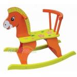 ม้าไม้โยกเยก..สีส้มฟรีค่าจัดส่งค่ะ