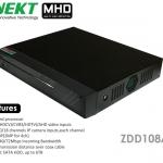 เครื่องบันทึก MHD 720P รองรับ 5 ระบบ HD TVI AHD CVI IP Analog INNEKT 8 CH รุ่น ZDD108