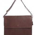 กระเป๋าสะพายรุ่น Square สีน้ำตาลเข้ม (Size L)