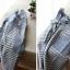 ผ้ากันเปื้อนผู้ใหญ่ ญี่ปุ่นลายทางสีฟ้าแต่งกระเป๋า 1 thumbnail 4