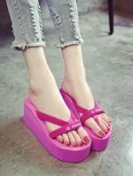 รองเท้าแตะสีชมพู โฟมเเข็งอัดอย่างดี ส้นเตารีด เจอน้ำขังเท้าก็ไม่สกปรก ใส่นิ่มสบาย แห้งไวลุยฝนได้ น้ำหนักก็เบา ไม่ยุบ ไม่ย้วย ทรงอยู่ทรง •สูง 7cm.เสริมหน้า4 cm(ONBOX)