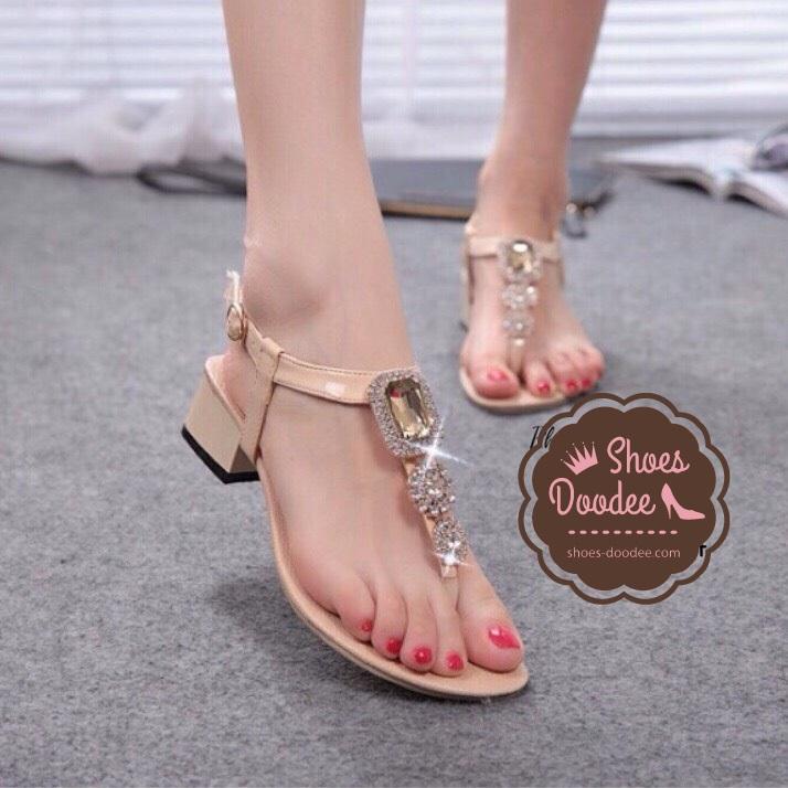 รองเท้าแตะผู้หญิง รองเท้าแตะแฟชั่น รองเท้าแตะส้นสูง