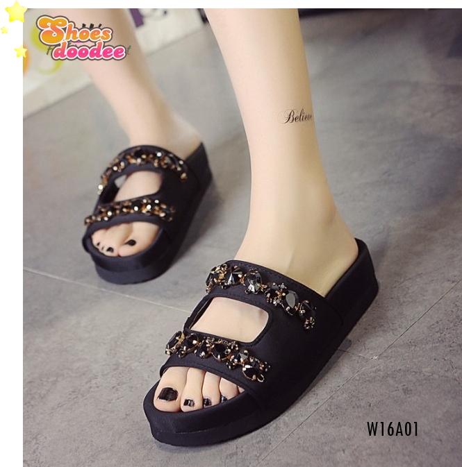 รองเท้าแตะผู้หญิง รองเท้าแตะมีส้น รองเท้าแตะใส่สบาย