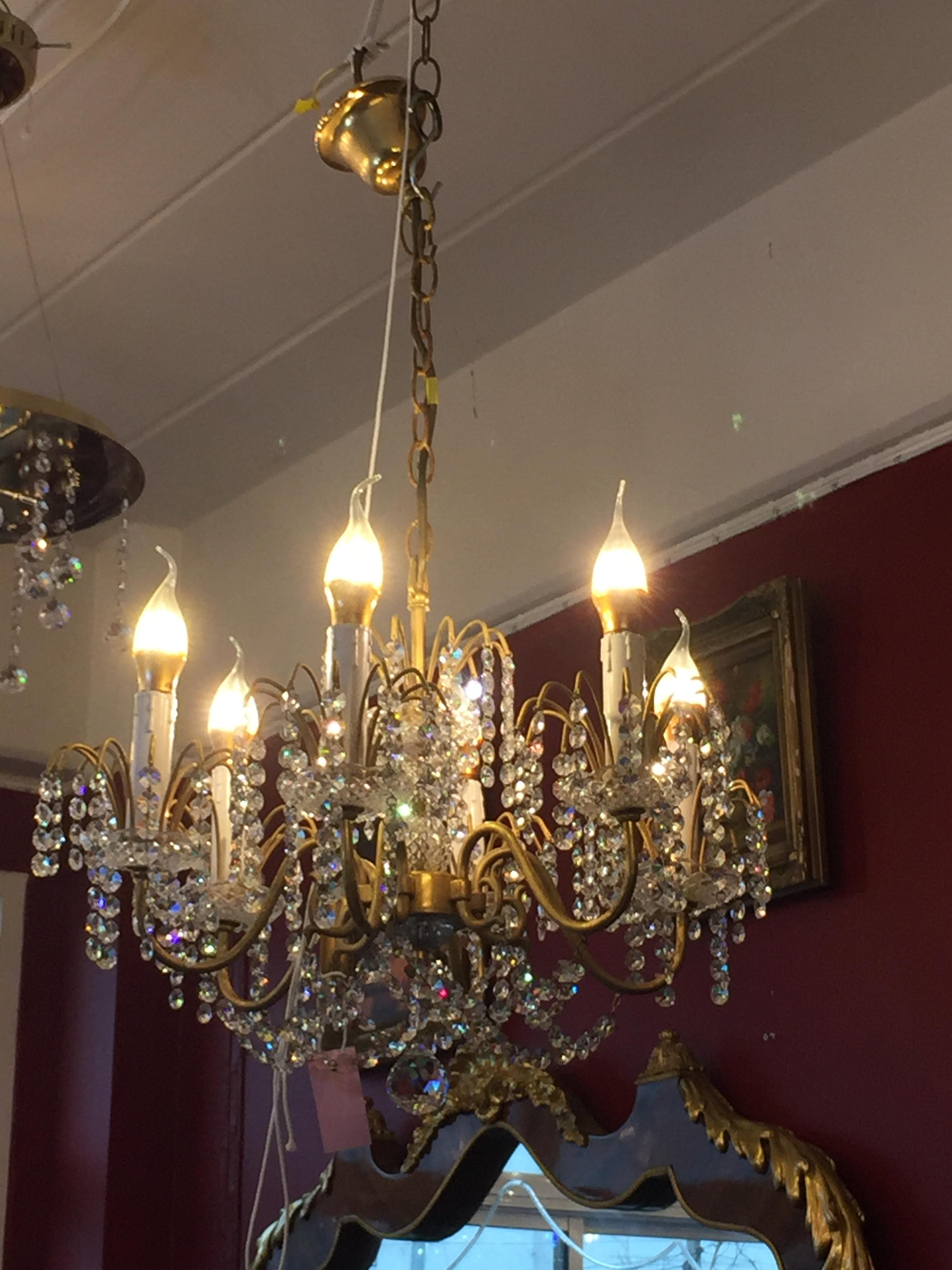 Crystal Chandeliers With 6 Lights