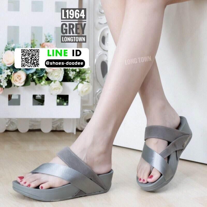รองเท้าสุขภาพเพื่อ แบบสวมโป้ง L1964-GRY [สีเทา]