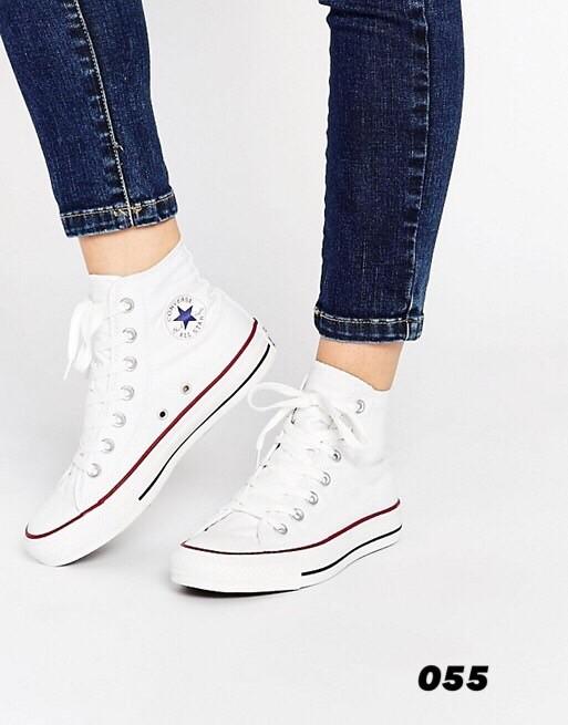 รองเท้าผ้าใบหุ้มข้อสีขาว Converse all star (สีขาว )