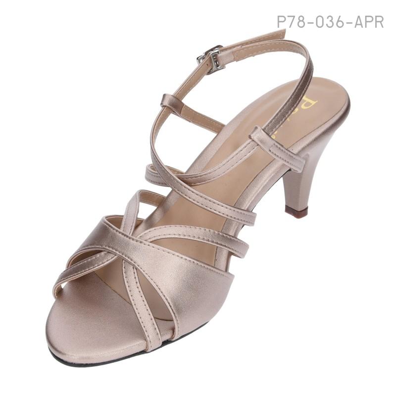 ลดล้างสต๊อก รองเท้าส้นเตี้ย P78-036-APR [สีแอปริคอท]