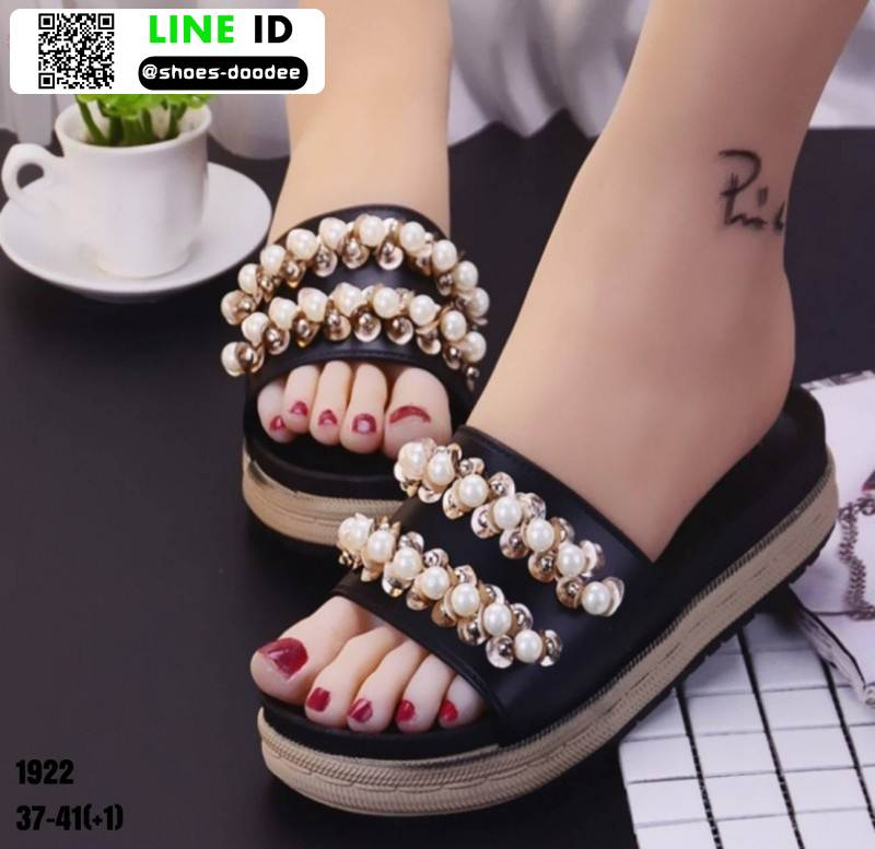 รองเท้าแตะลำลองแบบสวม 1922-BLK [สีดำ]