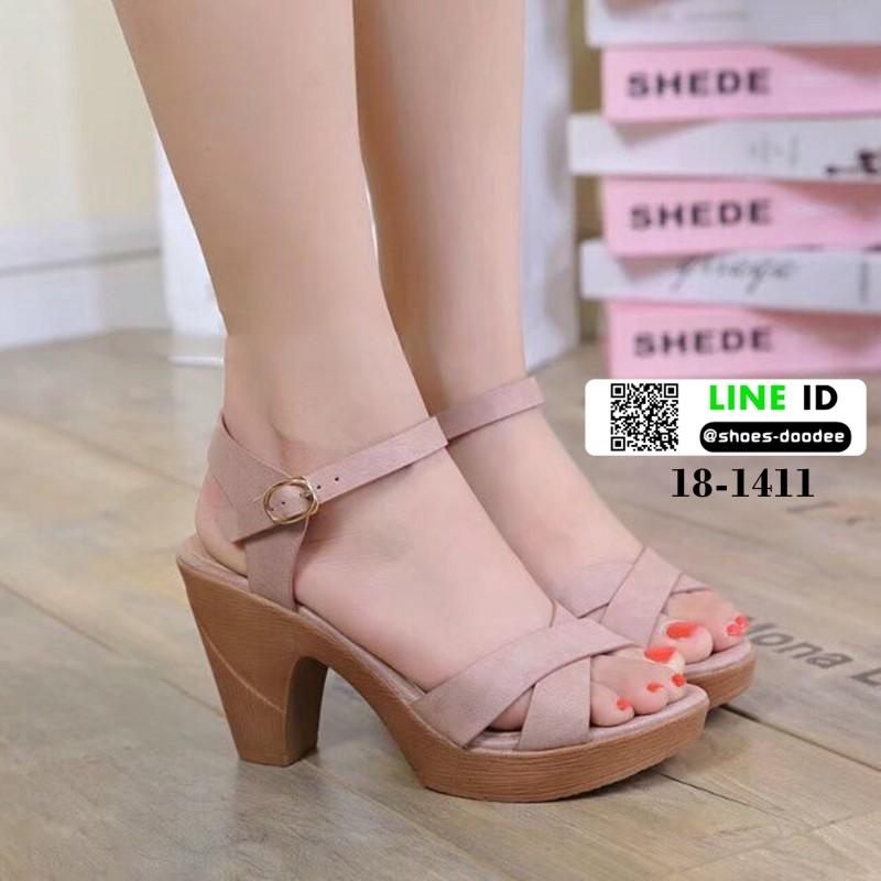 รองเท้าส้นสูงนำเข้า สไตล์เกาหลี 18-1411-PINK [สีชมพู]