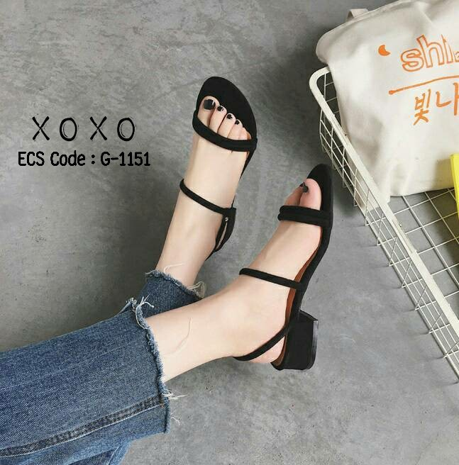 รองเท้าแตะสวม รัดหลัง G-1151-BLK [สีดำ]