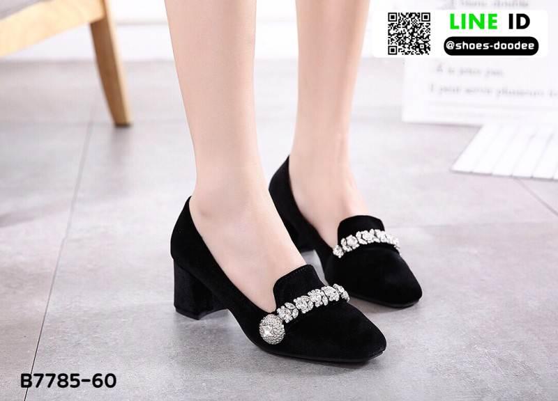 รองเท้าคัชชู miumiu กำหยี่ 7785-60-BLK [สีดำ]