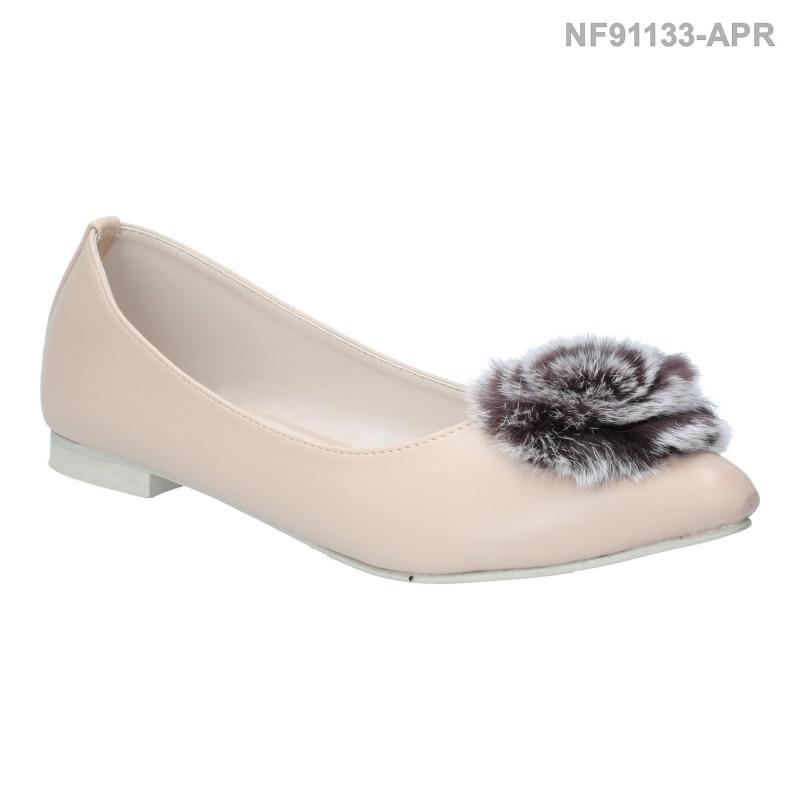 ลดล้างสต๊อก รองเท้าส้นแบน NF91133-APR [สีแอปริคอท]