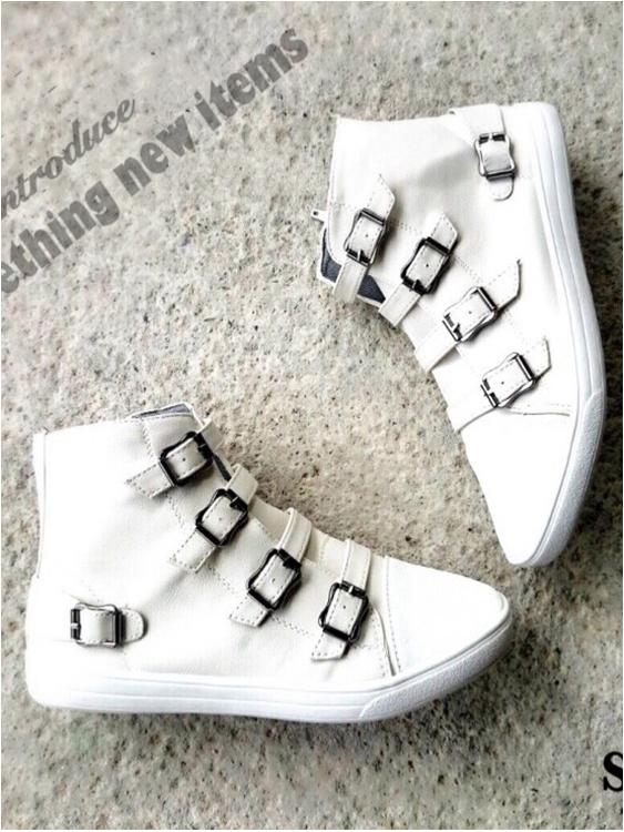 รองเท้าผ้าใบหุ้มข้อ สไตล์ ASH-virgin-sneaker (สีขาว)