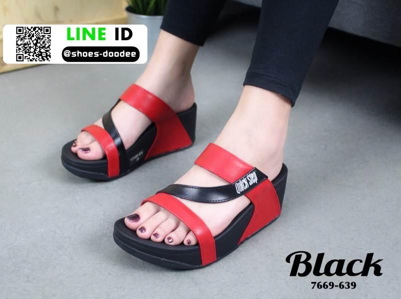 รองเท้าลำลองสุขภาพ สไตล์ Fitflop 7669-639-BLK [สีดำ]