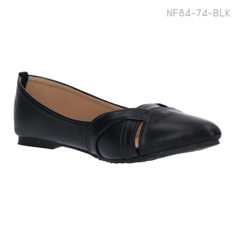 ลดล้างสต๊อก รองเท้าส้นแบน NF84-74-BLK [สีดำ]