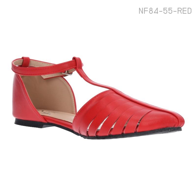 ลดล้างสต๊อก รองเท้าส้นแบน NF84-55-RED [สีแดง]