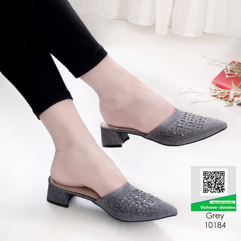 รองเท้าหัวแหลม สไตล์ซาร่าห์ 10184-เทา [สีเทา]