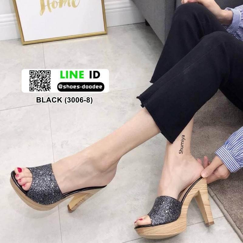 รองเท้าส้นสูง สไตล์แบรรนด์ TOP SHOP 3006-8-BLACK [สีดำ ]